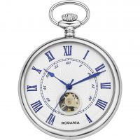 Rodania Pocket watch skeleton Mens Zakhorloge Zilver RF2628322
