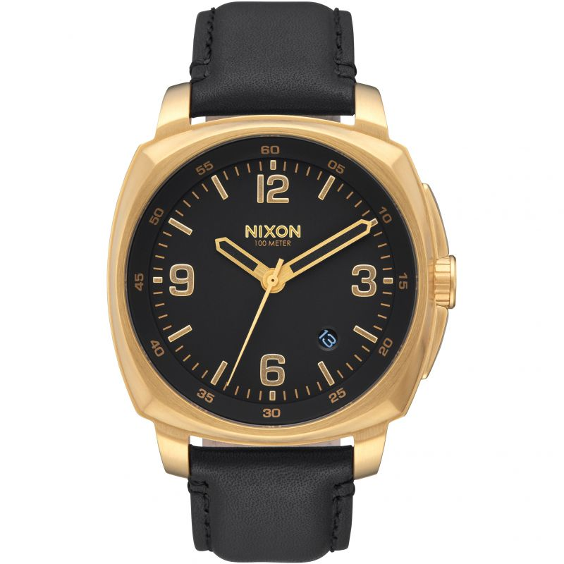 Unisex Nixon The Charger Leather Watch A1077-513