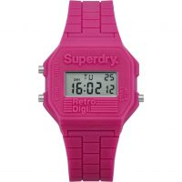 Damen Superdry Mini Retro Digi Alarm Chronograph Watch SYL201P