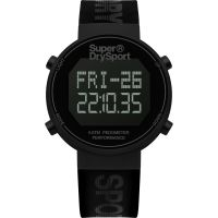 Unisex Superdry Digi Pedometer Chronograph Watch SYG203BB
