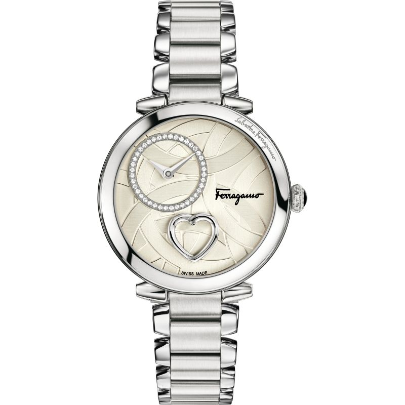 Ladies Salvatore Ferragamo Cuore Diamond Watch FE2070016