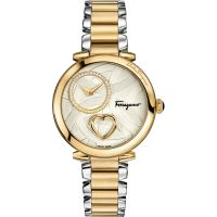 Damen Salvatore Ferragamo Cuore Diamond Watch FE2080016