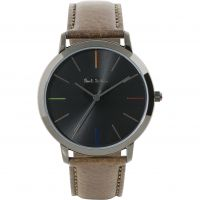 unisexe Paul Smith MA Leather Strap Watch P10090