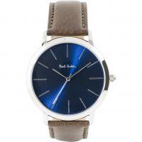 Herren Paul Smith MA Leather Strap Watch P10091