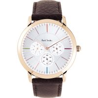 Mens Paul Smith MA Multifunction Leather Strap Watch P10112