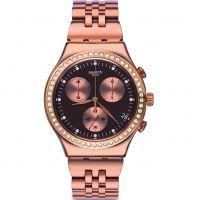 femme Swatch Precious Rose Chronograph Watch YCG414G