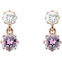 femme Ted Baker Jewellery Connolee Crystal Crown Short Earrings Watch TBJ1470-24-34