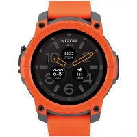 Nixon The Mission Android Wear Bluetooth Smart Herenchronograaf Oranje A1167-2658