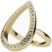 Ladies STORM Gold Plated Elipsia Ring Size L