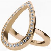 Ladies STORM Rose Gold Plated Elipsia Ring Size M