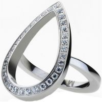 Damen STORM Silber Plated Elipsia Ring Größe P