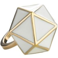 Ladies STORM Gold Plated Geo Ring Size P