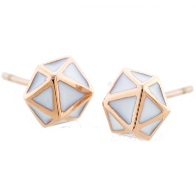 GEO-EARRING-ROSE-GOLD Image 0