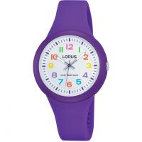 Enfants Lorus Soft purple silicone strap Montre