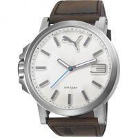 Herren Puma PU10346 ULTRASIZE 50 -silver brown leath Uhr