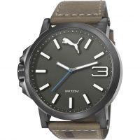Herren Puma PU10346 ULTRASIZE 50 -gun brown leather Watch PU103461017