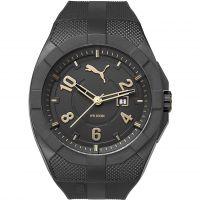Herren Puma PU10350 ICONIC - black gold Uhr