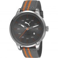 Herren Puma PU10364 COOL DOWN - grey orange Uhr