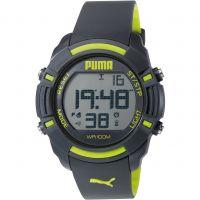 Mens Puma PU91122 SIXTY BYTES - grey yellow Alarm Chronograph Watch