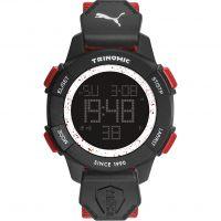 homme Puma PU91127 TRINOMIC - red white Alarm Chronograph Watch PU911271005
