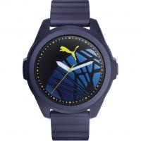 Herren Puma PU91131 GAME - navy yellow sole Uhr
