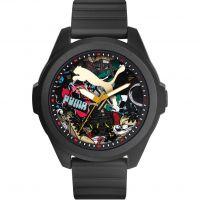 Herren Puma PU91131 GAME - black graffiti Uhr