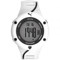 Herren Puma PU91136 CARDIAC 01 - white grey Alarm Chronograph Watch PU911361004