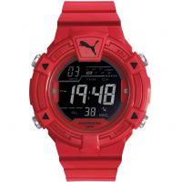Herren Puma PU91138 COLLIDE DIGITAL - red black Alarm Chronograph Watch PU911381004
