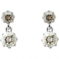 Ladies Ted Baker Silver Plated Connolee Crystal Crown Short Earring