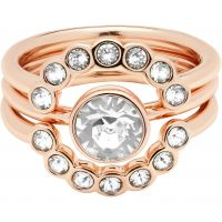 Ted Baker Dames Cadyna Concentric Crystal Ring ML Verguld Rose Goud TBJ1317-24-02SM