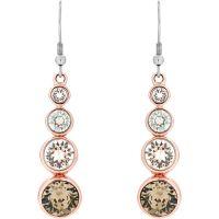 Ladies Karen Millen PVD rose plating Crystal Drop Earrings KMJ047-24-161