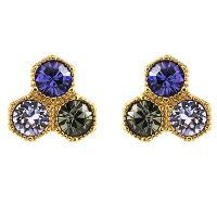 Ladies Juicy Couture PVD Gold plated Geometric Luxe Wishes Stud Earrings WJW57575-712