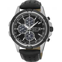 Mens Seiko Alarm Chronograph Solar Powered Watch