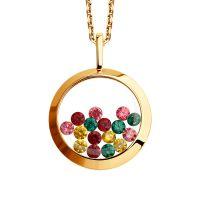 Ladies Sokolov 14 Carat Gold Kaleidoscope Cubic Zirconia Pendant 34925