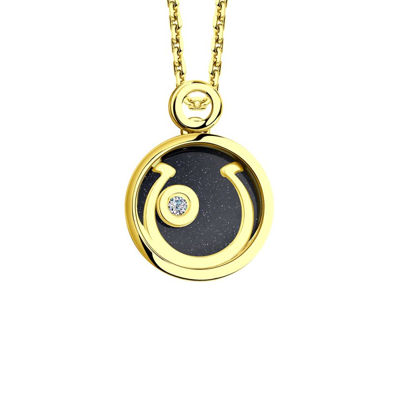 Ladies Sokolov 14 Carat Gold Night & Day Large Pendant 511030454