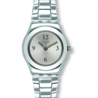 Ladies Swatch More Silver Keeper Watch