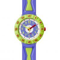 Kinder Flik Flak Lila Blume Uhr