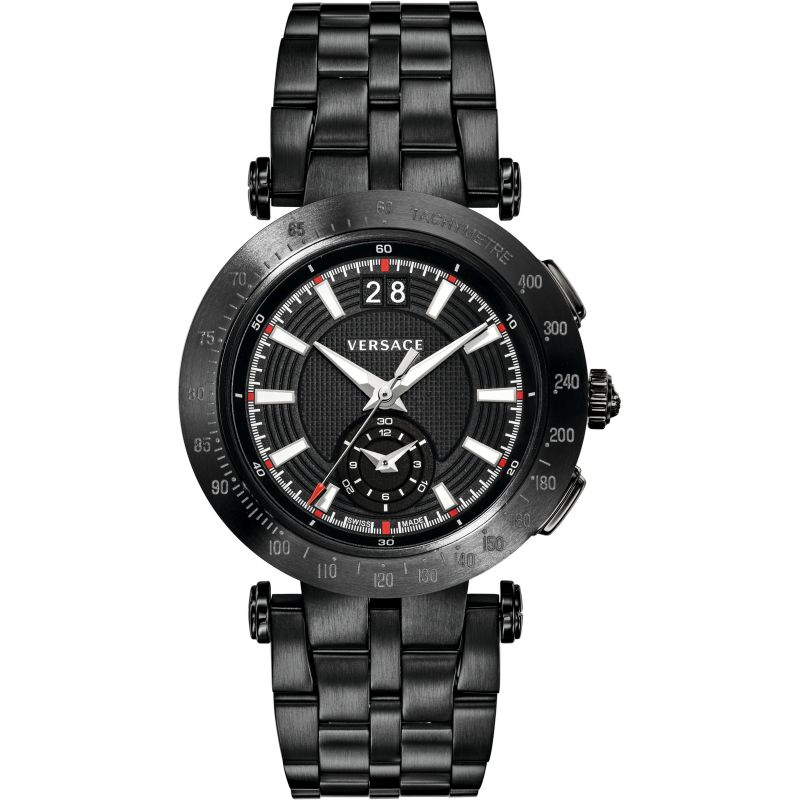Mens Versace V-Race Chronograph Watch VAH040016