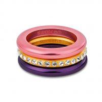 Swatch Bijoux Merry Pink Ring Size N JEWEL