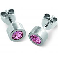 Swatch Bijoux Puntoluce Rose Crystal Stud Earrings JEWEL