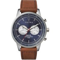 Herren Triwa Blau Steel Nevil 2.0 Chronograf Uhren