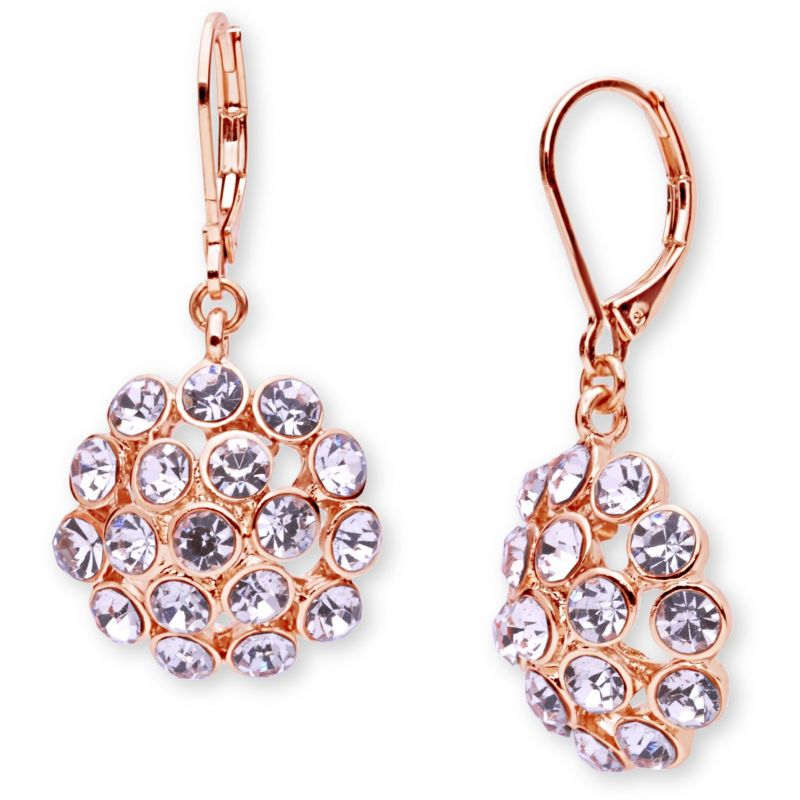 Ladies Anne Klein Gold Plated Cluster Earrings 60446667-9DH