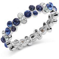 Damen Anne Klein Silber Plated Cluster dehnbar Armband