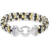 Damen Nine West zweifarbig Stahl/vergoldet Multi Row dehnbar Armband