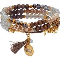 Ladies Lonna And Lilly Gold Plated Set of 3 Stretch Bracelets