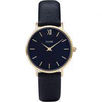 Damen Cluse Minuit Leder Uhr