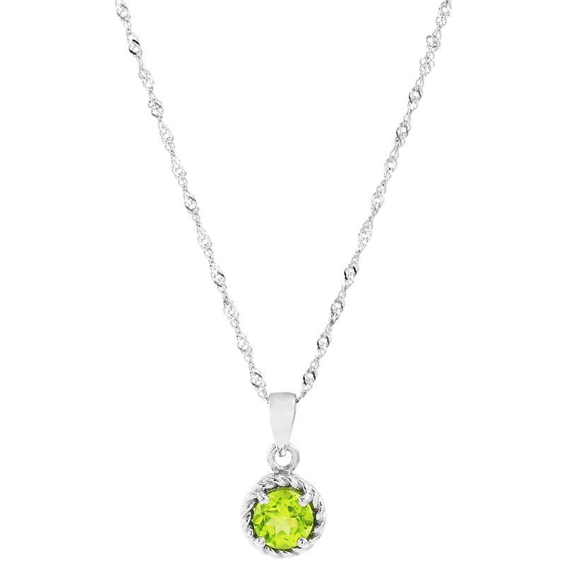 Ladies Gemstone Sterling Silver Peridot Pendant G0060P-PE