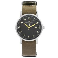 Unisex Smart Turnout Savant with Grey Leather Strap Watch STH5/SB/56/W-GRE