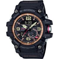 Herren Casio G-Shock Mudmaster Meister Of G Vintage Schwarz And Wecker Chronograf Uhren