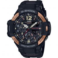 Herren Casio G-Shock Aviator Meister Of G Vintage Schwarz And Wecker Chronograf Uhren